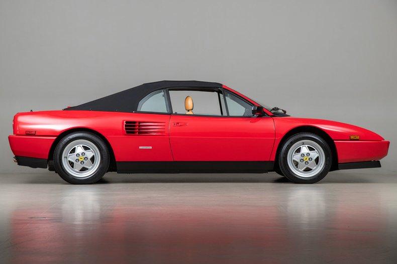 1989 Ferrari Mondial T Convertible, RED, VIN ZFFFC33A5K0082111, MILEAGE 584