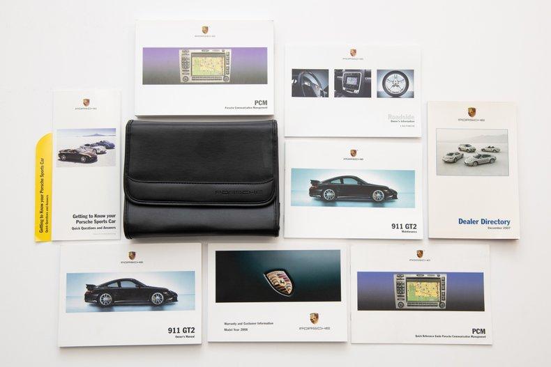 2008 Porsche 911 GT2, ATLAS GRAY METALLIC, VIN WP0AD29928S796157, MILEAGE 1472