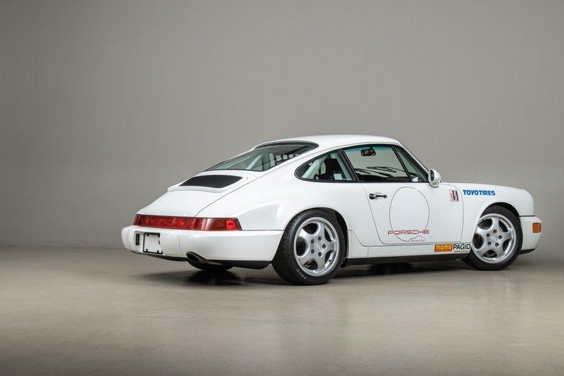 1992 Porsche 964 Carrera Cup, WHITE, VIN WP0AB296XNS420572, MILEAGE 1241