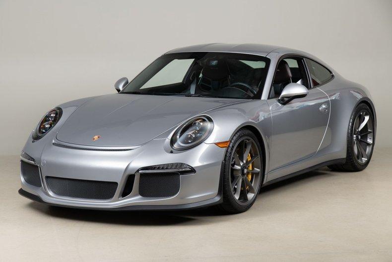 2016 Porsche 911 R, GT SILVER, VIN WP0AF2A97GS195136, MILEAGE 447
