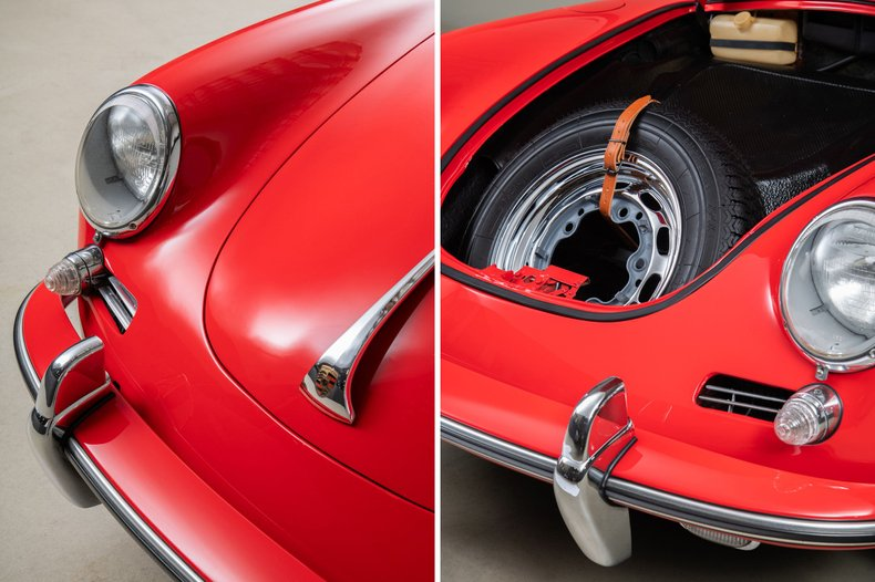 1962 Porsche 356B Coupe , RED, VIN 211240, MILEAGE 18740