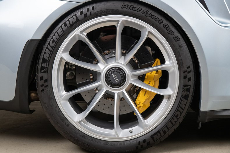 2016 Porsche 911 GT3 RS, LIQUID METAL CHROME BLUE METALLIC, VIN WP0AF2A92GS193911, MILEAGE 1409