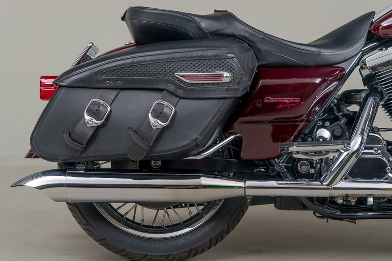 1998 Harley-Davidson Road King Anniversary , MAROON, VIN 1HD1FRR59WY612762, MILEAGE 2573