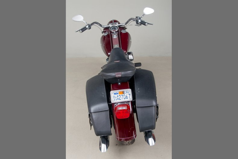 1998 Harley-Davidson Road King Anniversary , MAROON, VIN 1HD1FRR59WY612762, MILEAGE 2573