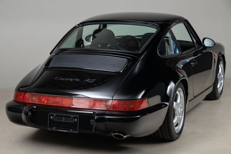 1992 Porsche 911 Carrera RS, BLACK, VIN WP0ZZZ96ZNS490656, MILEAGE 7829