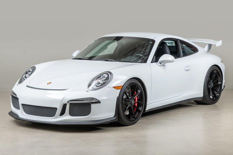 2015 Porsche 911 GT3 , WHITE, VIN WP0AC2A92FS183774, MILEAGE 6217