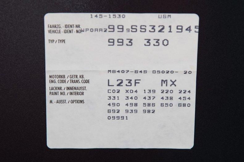 1995 Porsche 911 Carrera , SLATE GRAY METALLIC, VIN WP0AA2999SS321945, MILEAGE 2839