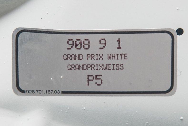 1989 Porsche 911 Turbo , GRAND PRIX WHITE, VIN WP0JB0936KS050274, MILEAGE 22414