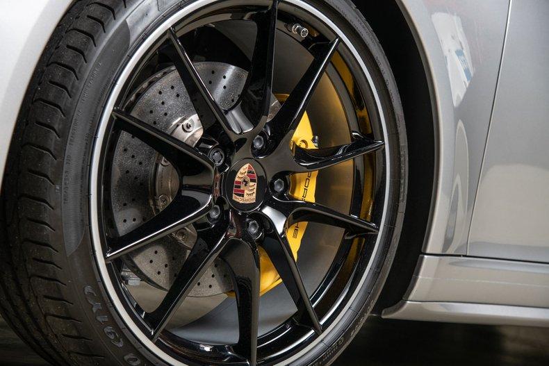 2014 Porsche 911 Carrera 4S Cabriolet, GT SILVER METALLIC, VIN WP0CB2A94ES154433, MILEAGE 16457