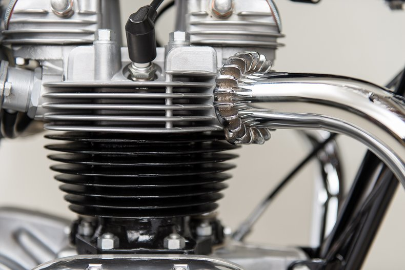 1967 Triumph T120 TT, BURGUNDY/WHITE, VIN T120TTDU54178