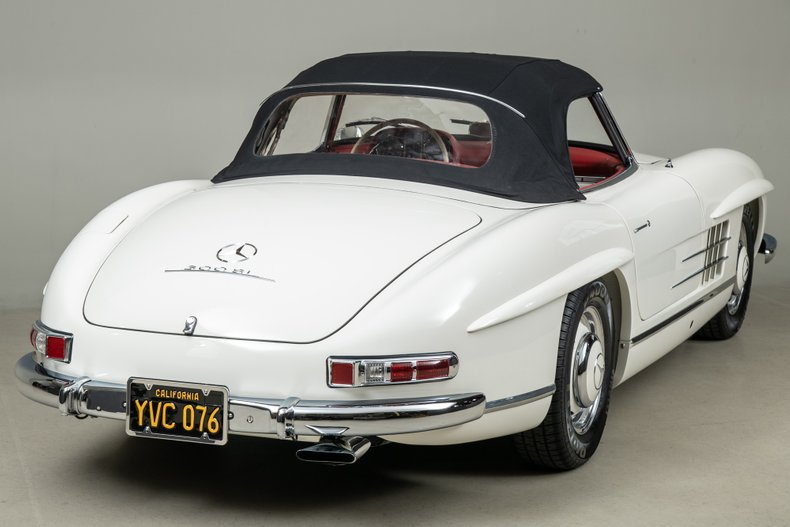 1963 Mercedes-Benz 300 SL Roadster, WHITE, VIN 19804210003257, MILEAGE 38864