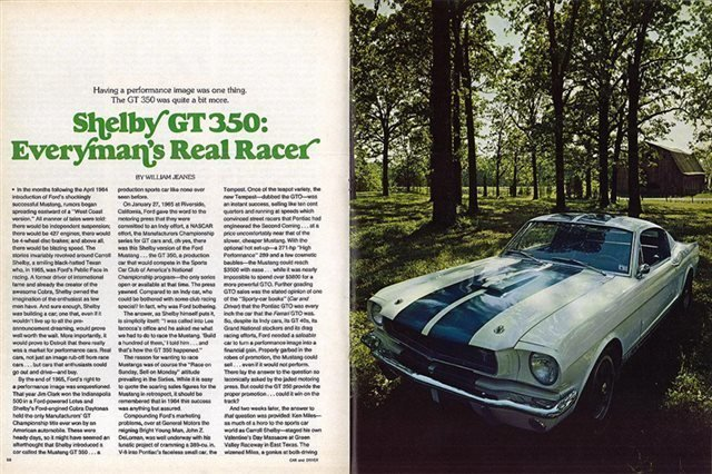 1965 Shelby Mustang GT 350 , WHITE, VIN SFM5S517, MILEAGE 61061