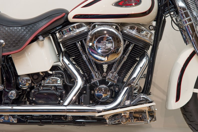 1997 Harley Davidson Heritage Canepa Design , IVORY, VIN 1HD18RL32VV023649, MILEAGE 5