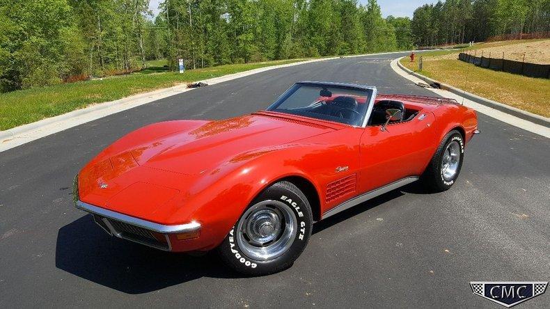1972 Chevrolet Corvette Stingray Carolina Muscle Cars Inc