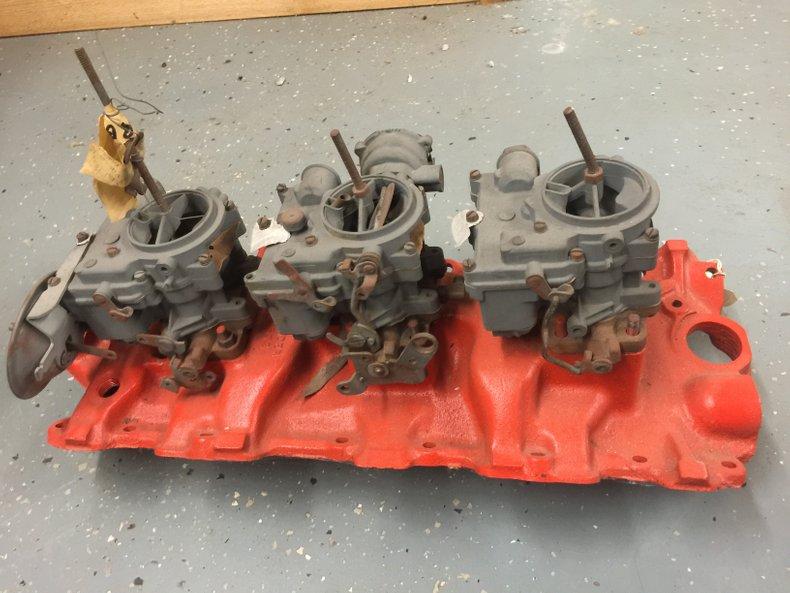 1959 348 3x2 intake w/carbs