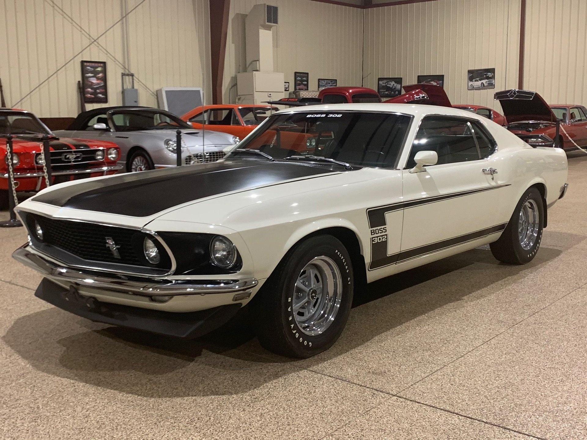 1969 ford mustang boss 302 mca gold