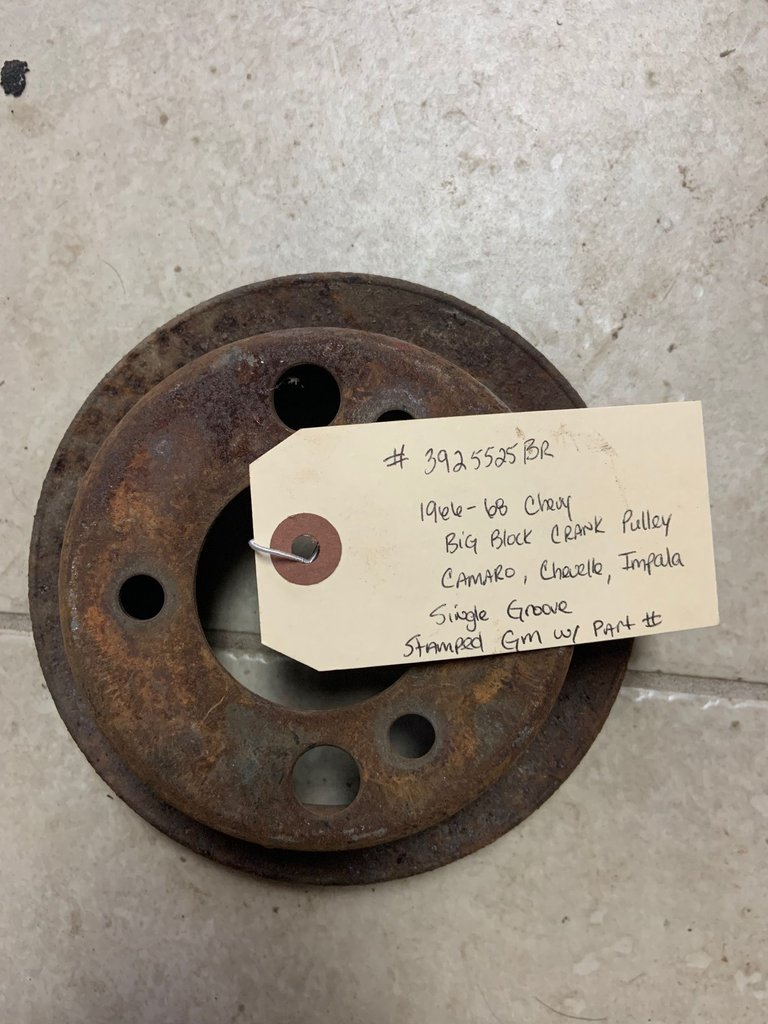 3925525BR 1966-68 CHEVY BB CRANK PULLEY