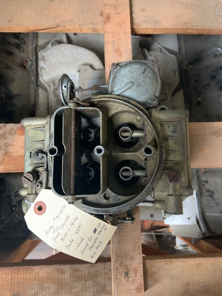 1966 CHEVELLE 396 BB HOLLEY CARB
