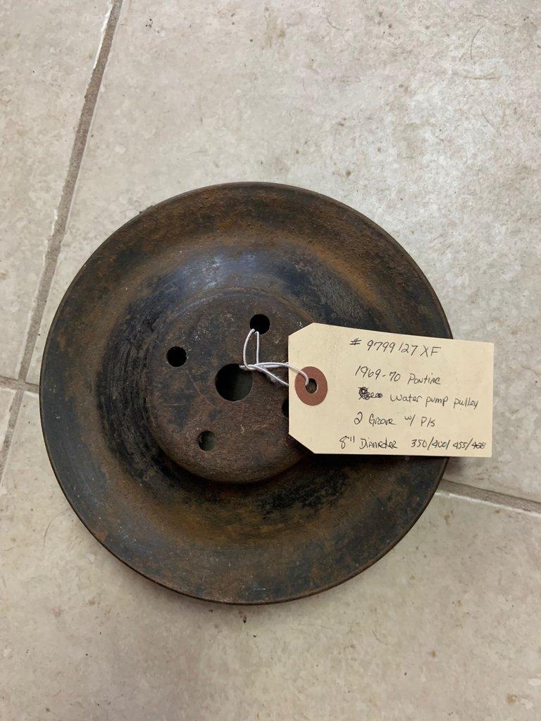 """1969-70 PONTIAC 2 GROOVE 8"""" DIAMETER 350/400/455/428 water pump pulley"""