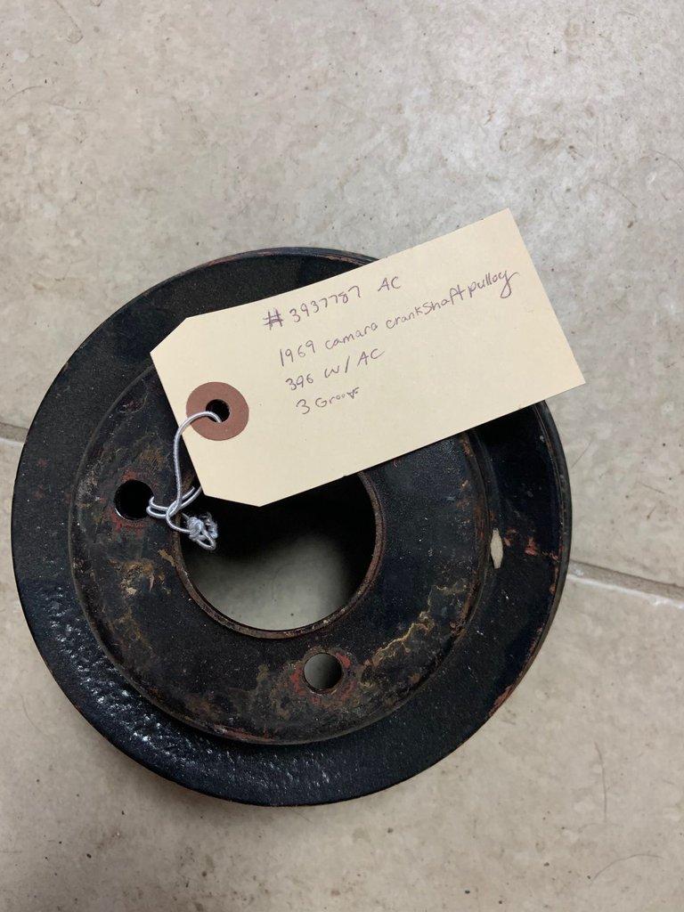 1969 camaro crankshaft pulley, 396 w/AC 3-groove