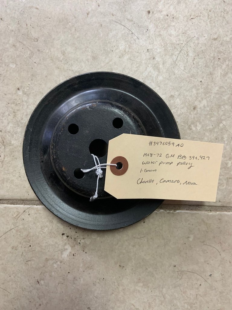 1968-72 BB 396, 427 WATER PUMP PULLEY