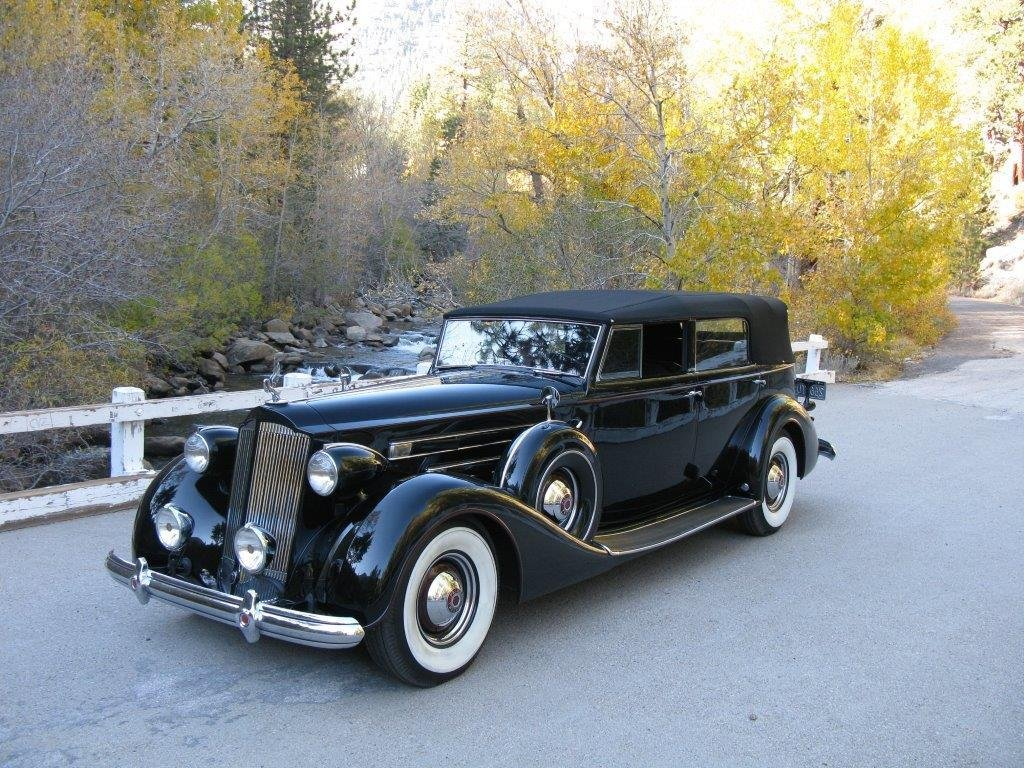 1937 packard 1508 v 12 dietrich convertible sedan