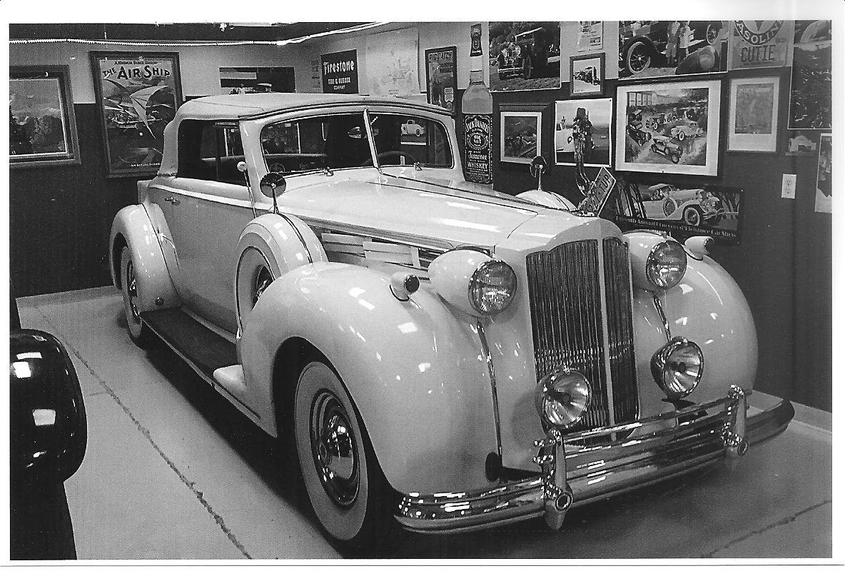 1938 packard 1607 v 12 convertible coupe