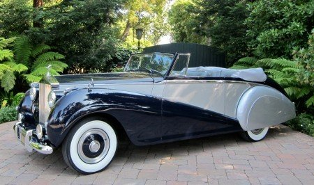 1952 rolls royce silver dawn drophead coupe