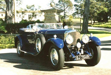 1930 bentley speed 6 tourer