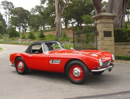 1959 bmw 507 roadster red black