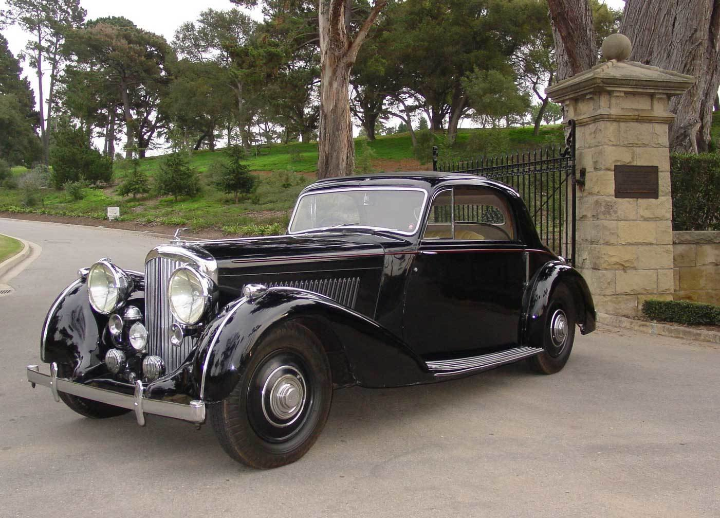 1939 bentley 4 1 4 liter overdrive sport coupe by park ward