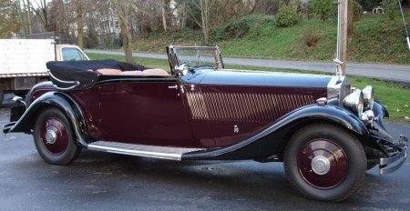 1933 rolls royce phantom ii continental 3 position drophead coupe