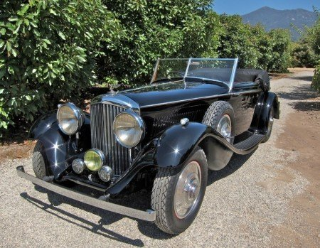 1936 bentley 4 1 4 litre v windscreen drophead coupe
