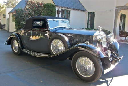 1933 rolls royce 20 25 drophead coupe