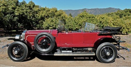 1925 rolls royce silver ghost topedo tourer london to edinb