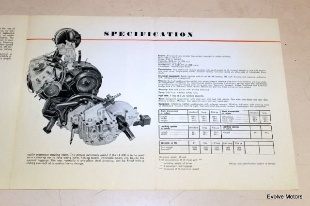 For Sale 1960 Lloyd LT 600