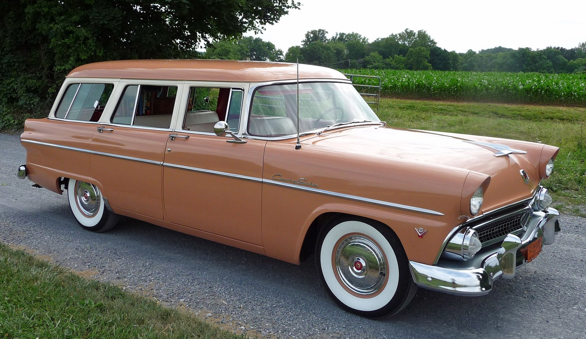 1955 ford station wagon country sedan