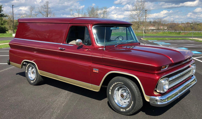 1966 chevrolet panel truck custom deluxe