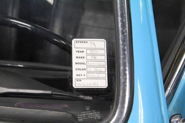 1971 Volkswagen KARMIN GHIA