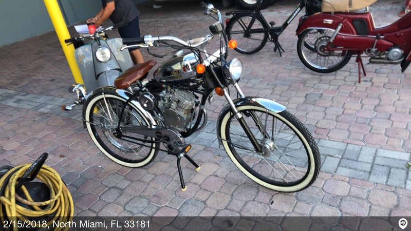 1950 s era whizzer motorbike