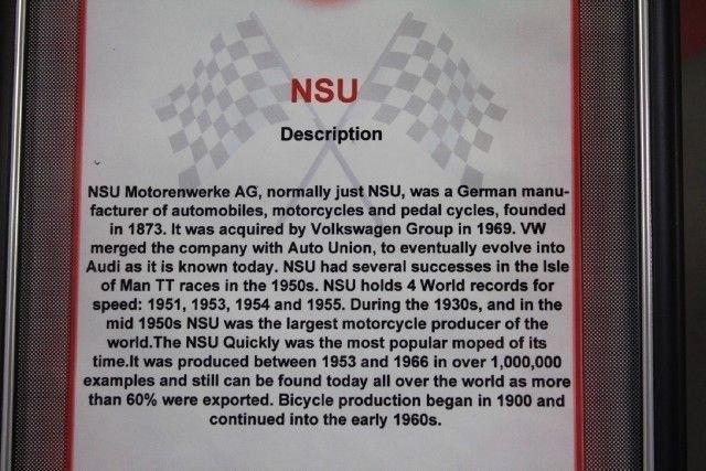 1960's Era NSU ROLLER PRIMA
