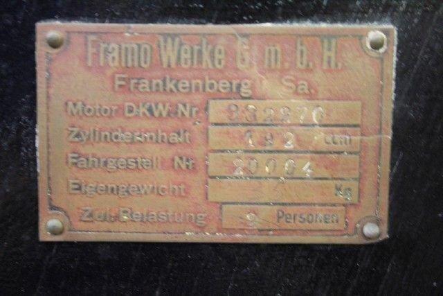 1928 FRAMO STROMER SPORT
