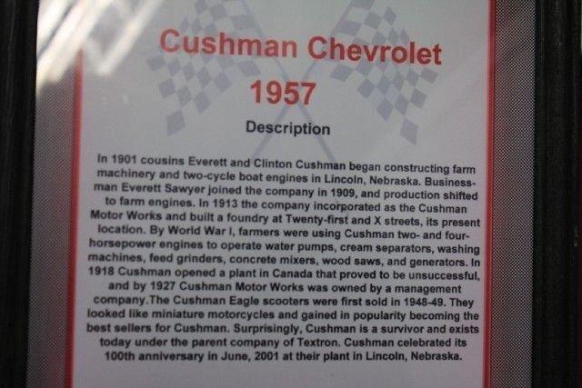 1957 CUSHMAN CHEVROLET CHEVROLET REPLICA
