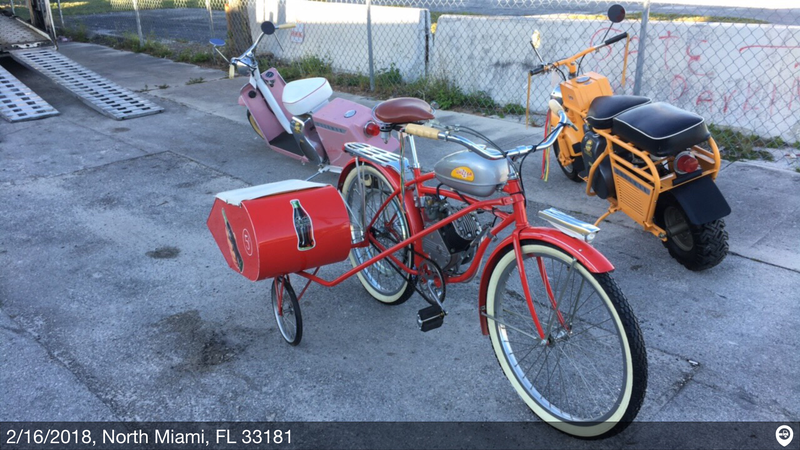 19xx whizzer bicycle with sidecar