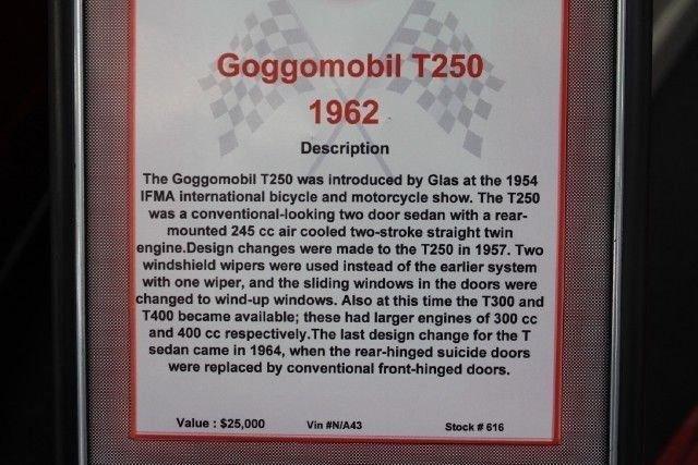 1961 GOGGOMOBIL TS 250