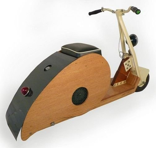 NONE LISTED WOOD BODIED SCOOTER CLIPPER J. LINGER
