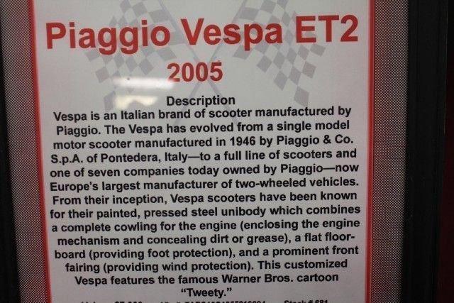 2005 PIAGGIO VESPA ET2