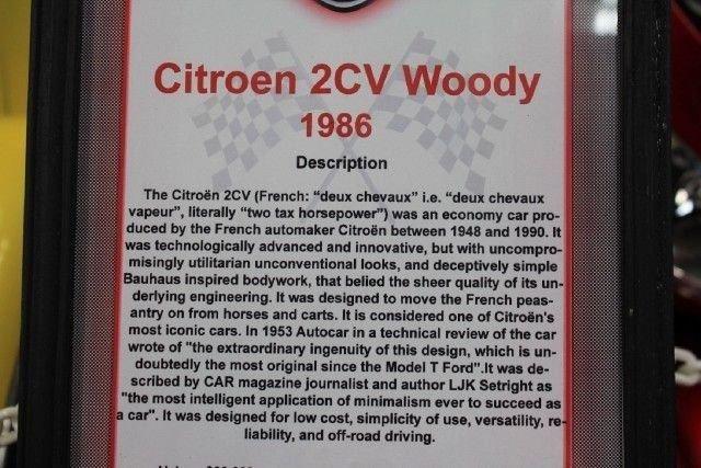"""1986 Citroen 2CV """"WOODY"""""""