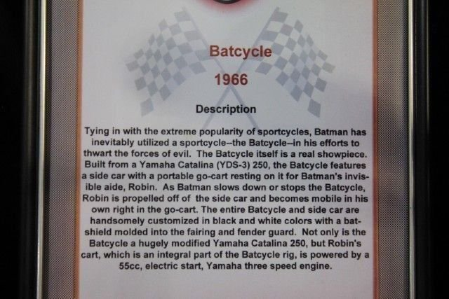 NONE LISTED BATMOBILE BATCYCLE