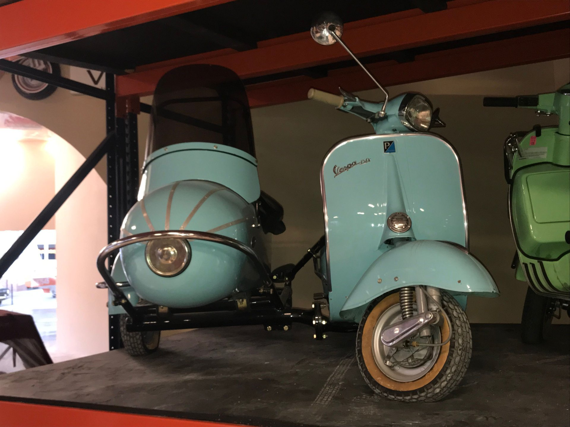 None listed piaggio vespa 150 with sidecar
